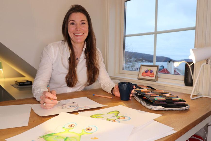 Miriam Haukebø holder tegnekurs sammen med Malepaletten, men hvem er hun?