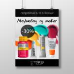 Akrylmaling og medier 30% rabatt